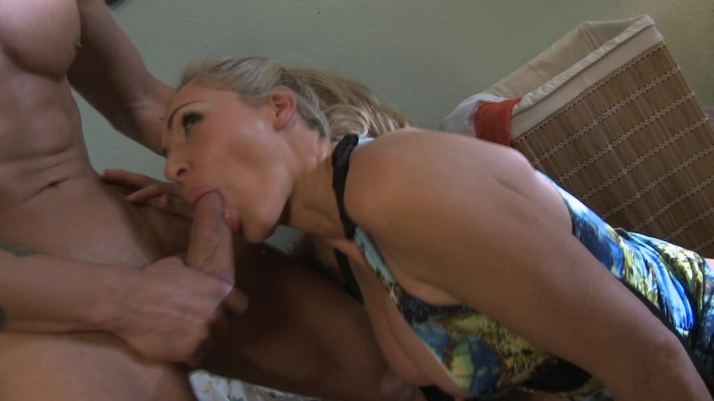 Lovely blonde MILF Lisa rides a hard cock
